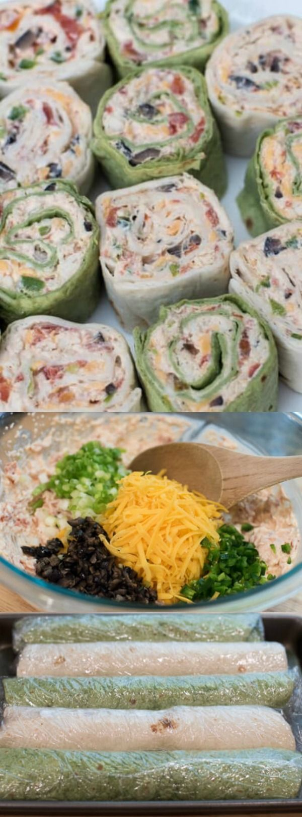 These Southwest Chicken Tortilla Pinwheels from Valerie's Kitchen are a classic party appetizer with the most delicious Southwest twist! You can make these before your party and have them waiting in your refrigerator.