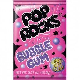 Pop Rocks Sucre pétillant gout bubble gum  105 Gr