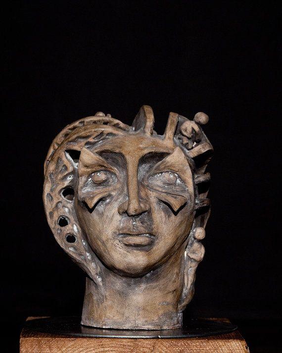 Handmade Ceramic Sculpture Clay Art Unique by Artgalleryraka