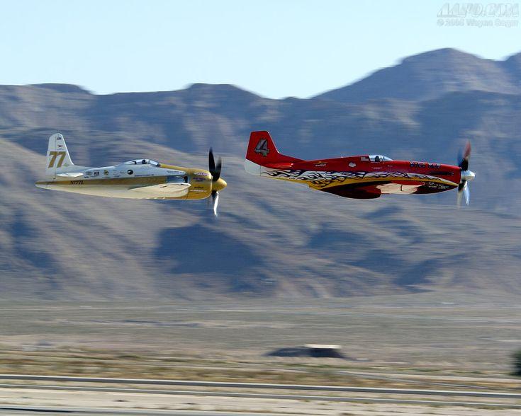 Dago Red P-51 & Rare Bear F8F Bearcat