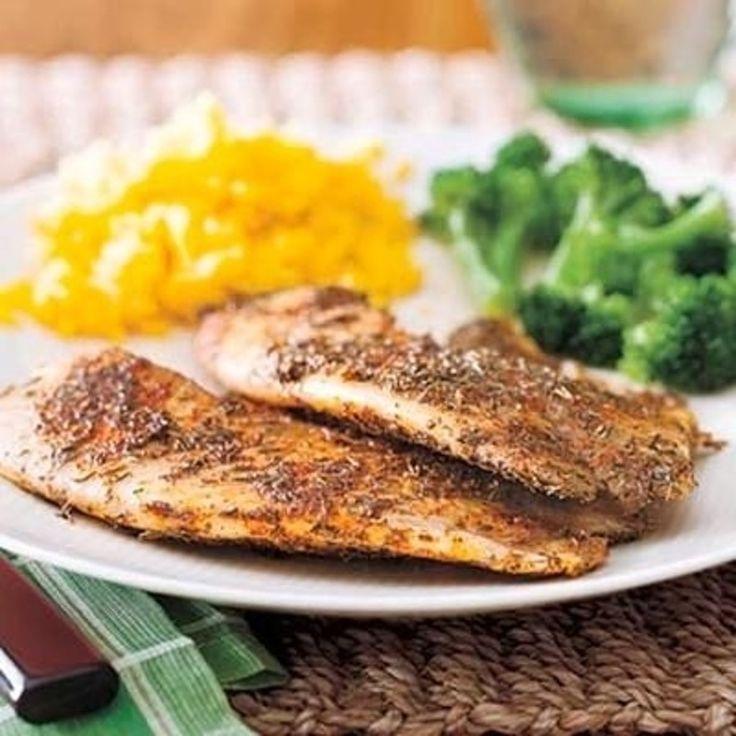 13. #Cajun noirci #Tilapia - 26 recettes de Tilapia #savoureux et sain, vous #devez cuire ce #soir... → Food