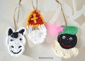 Sinterklaas, Zwarte Piet en Amerigo het paard - HAAKPATROON- Made by EssSpecially