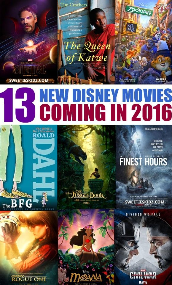 13 New Disney Movies Coming Out in 2016