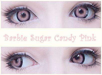 Yeux bonbons pour Halloween: Lentilles Barbie Sucre Candi Cercle rose