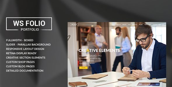 The WS Folio is a professional creative agency responsive site template coded with Bootstrap...