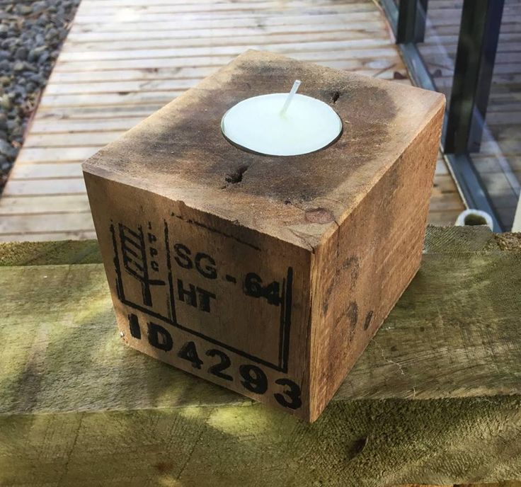 Pallet Tea Light Holder