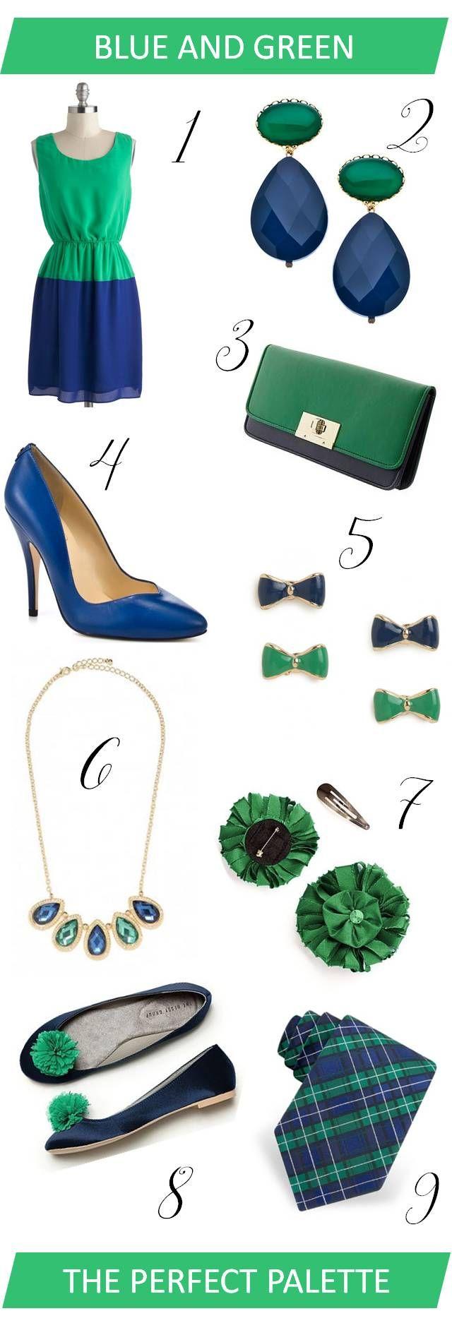 {Wedding Wardrobe}: Navy Blue + Kelly Green! http://www.theperfectpalette.com/2013/03/wedding-wardrobe-navy-blue-kelly-green.html