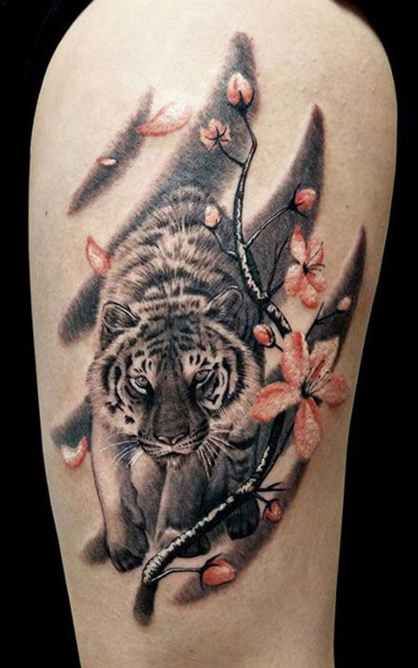 Pin By Nicole Psenner On Tatuajes Tiger Tattoo Tiger Tattoo Thigh Tiger Tattoo Sleeve