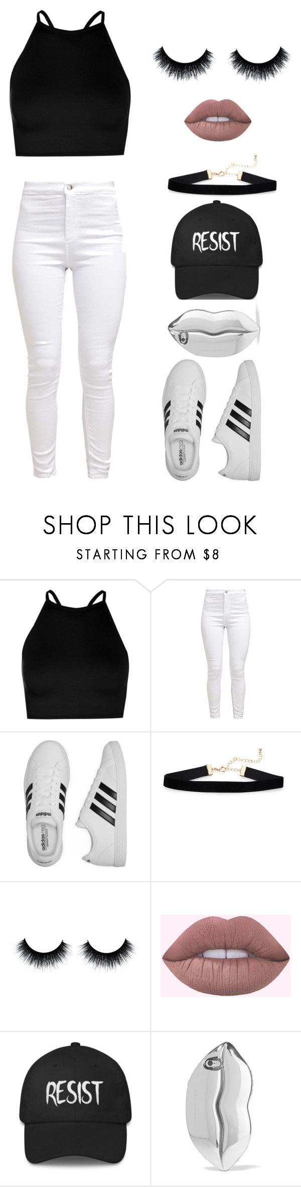"""Resist"" by lakisha-ii ❤ liked on Polyvore featuring Boohoo, adidas and STELLA McCARTNEY"