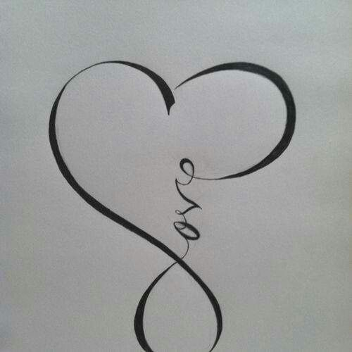 Infinity heart and love