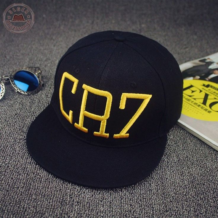 New Cristiano Ronaldo CR7 Black Baseball Caps hip hop Sports Snapback hat unisex flat brim hats adjustable [HUB021]