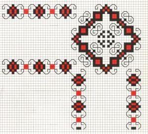 Counted cross stitch pattern - Romanian embroidery -5