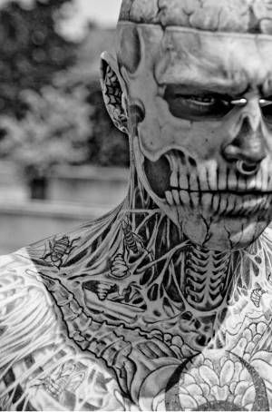 """Zombie Boy. I just want to talk about a little thing called """"commitment"""" ... you don't have it like this guy has it."""
