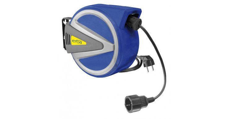 13 + 1 m Kabel 3 x 1,5, komplett mit robuster Wandhalterung, vollautomatischer Rückeinzug, Thermo-Überhitzungs-Schutzschalter, Stopfunktion und montierte Kupplung bzw. Schuko-Stecker