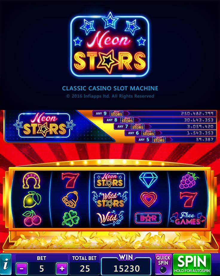 Neon Stars Slot Machine on Behance