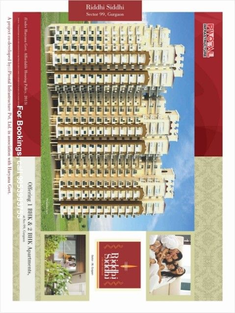 Pivotal Riddhi Siddhi Sector 99 Gurgaon   Every apartment is specially and tastefully crafted with extra care and special attention to meet international standards of architecture. Every apartment is well-planned to make life hassle-free for the residents. World class amenities give a little extra luxury  .
