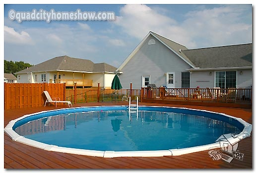 Two Tiered Deck With Pool Dream Deck Pinterest