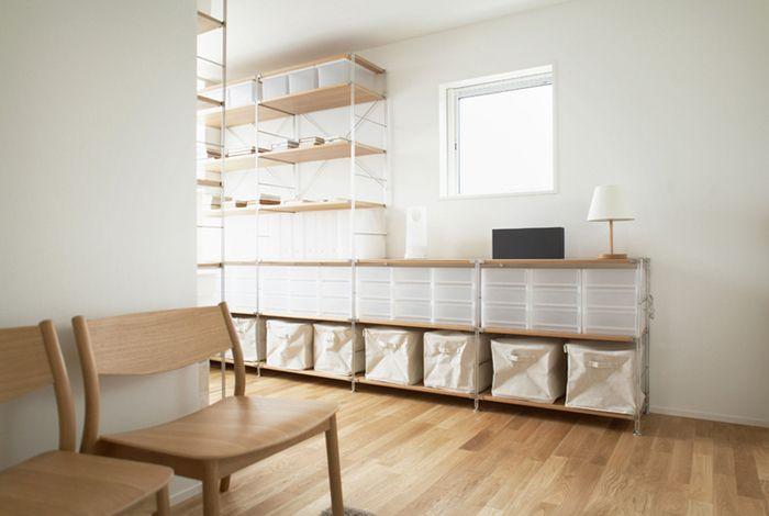 無印の家具を組み合わせていくと、素敵な空間に生まれ変わります!色合いも素敵ですね。