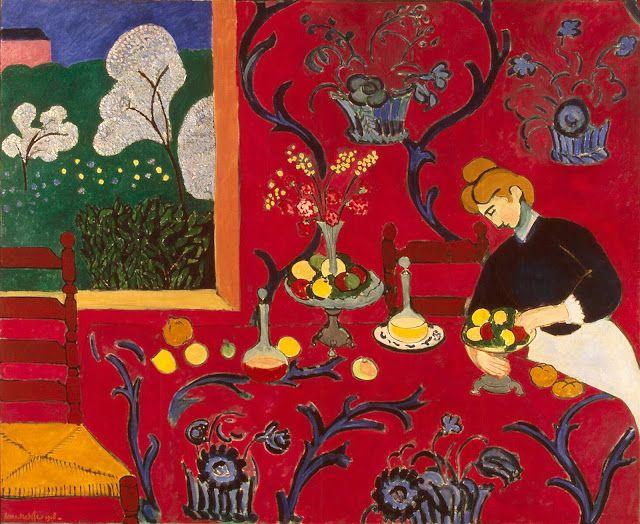 """""""A Sala Vermelha"""" - """"A Sobremesa - Harmonia em Vermelho"""" - Henri Matisse"""