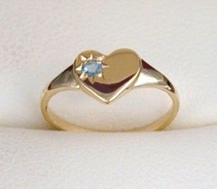 Signet Ring - SWEETHEART - Sterling Silver or 9ct Gold