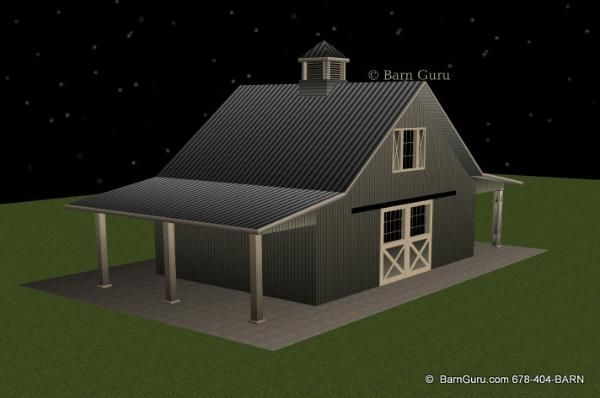 2 stall horse barn plan with loft barn builder in north for 2 stall horse barn plans
