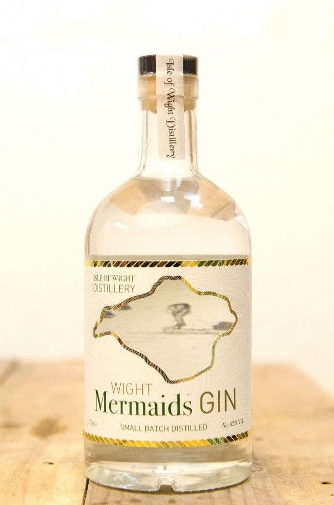 Isle of Wight Mermaids Gin, one of the first spirits distilled at the island's first and only distillery.