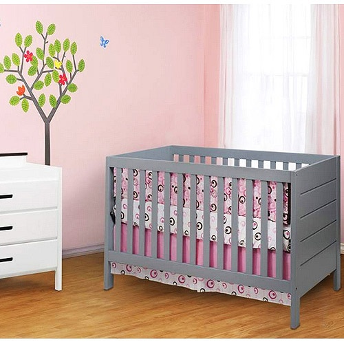 Grey Modern Crib For Nursery Ohh Baby Pinterest