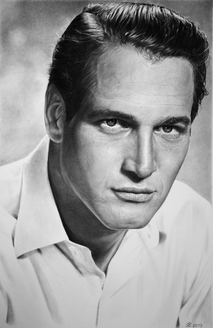 Paul by francoclun - pencil drawing of actor Paul Newman  | First pinned to Celebrity Art board here... http://www.pinterest.com/fairbanksgrafix/celebrity-art/ #Drawing #Art #CelebrityArt