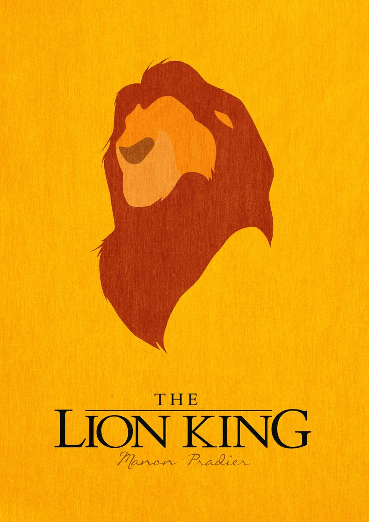 The Lion King - minimalist poster by manoulol.deviantart.com on @deviantART