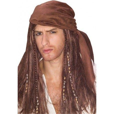 Perruque Pirate des Caraibes Homme
