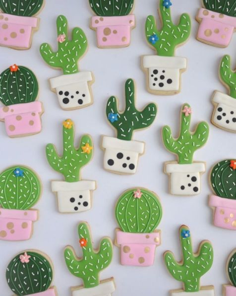 The prettiest cacti cookies ever! by Johanie Les Biscuits