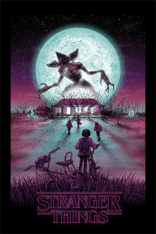 Behold this Stranger Things lithograph