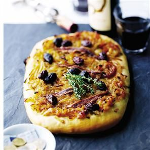 Pissaladiere – the French answer to a pizza with anchovies and black olives