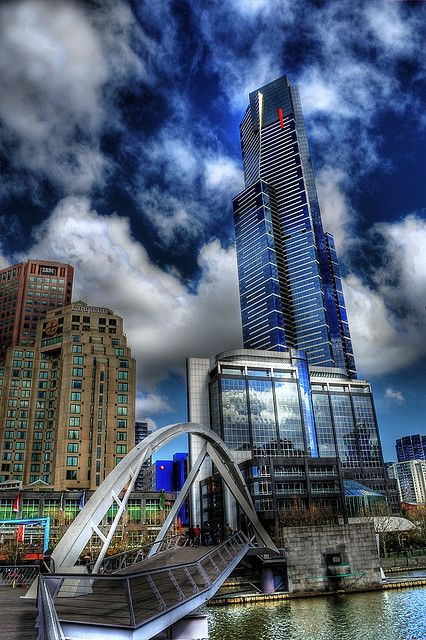 Love this!  Eureka Tower, Southbank - Melbourne, Australia.  Was My daily walk. :(   i miss it.