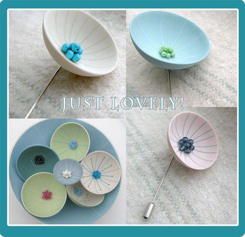 Ceramic cup brooches - Indie Fixx