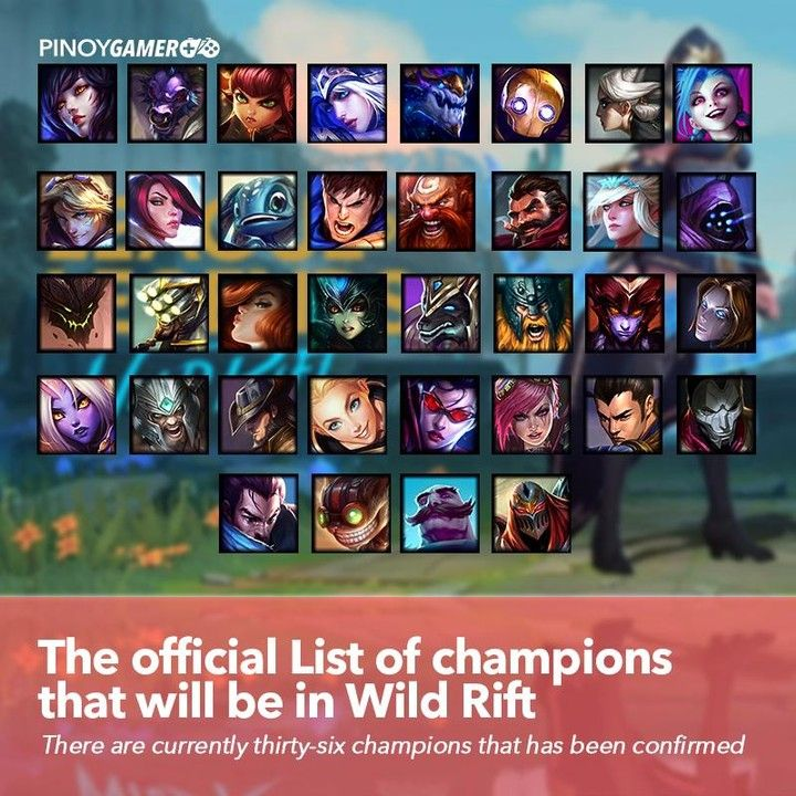 List Of Confirmed Champions In League Of Legends Wild Rift Features Thirty Six Iconic Champions Wildrift