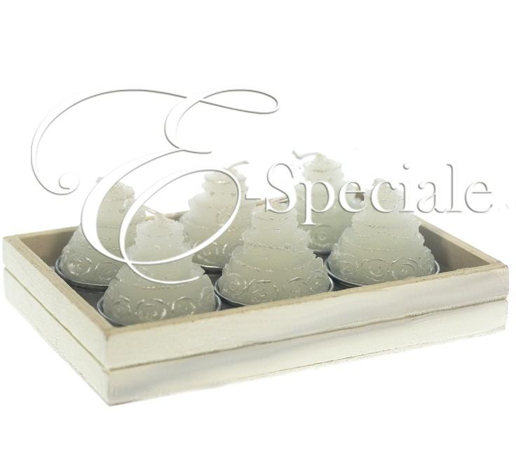 Candele Tealight Torta Nuziale (conf. 6pz) - E-Speciale.it
