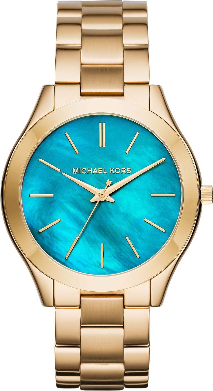MICHAEL KORS Runway Slim Gold Stainless Steel Bracelet MK3492