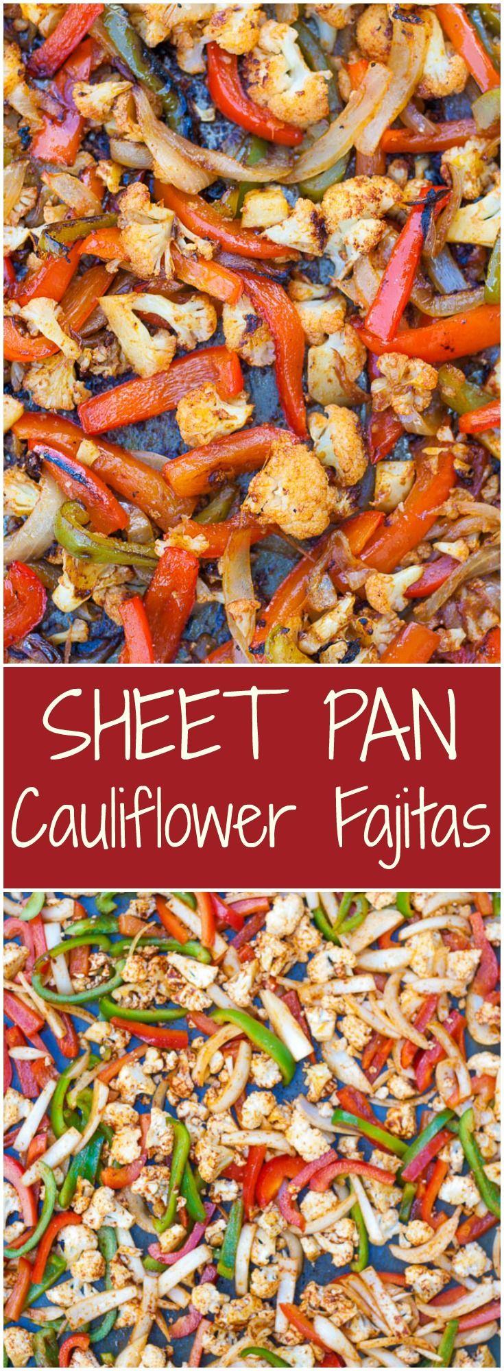 Vegan/Gluten free SHEET PAN Cauliflower Fajitas.