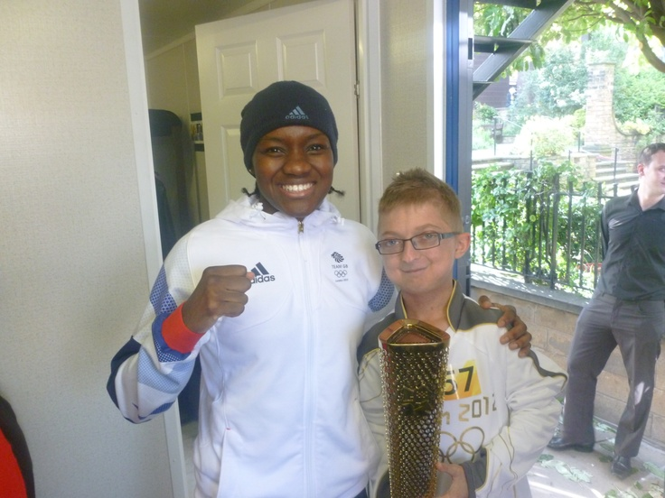 I met a member of the Team GB Olympic Boxing team.