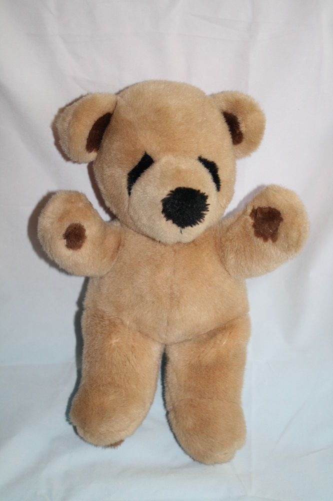 "Kinder Gund Brown Teddy Bear VTG 1979 Plush Eyes 12"" Kindergund ..."