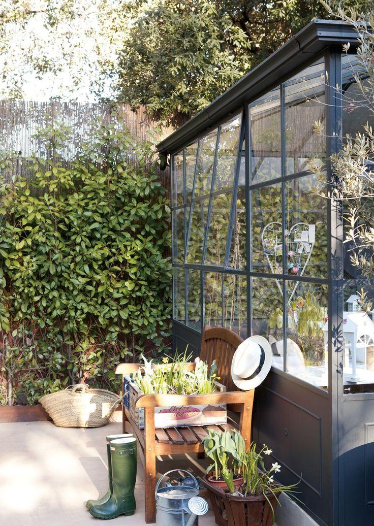 M s de 25 ideas incre bles sobre rejas para jardin en - Invernadero en terraza ...