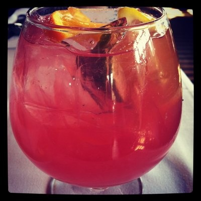 Joe's Amercian Bar and Grill Pink Sangria. Looked everywhere for this recipe