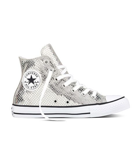 Sneakers women - Converse All Star metallic silver