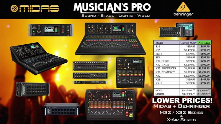 MIDAS + BEHRINGER: NAMM 2017 New Lower Prices (X32 X-Air XR18 M32) | ukulele price philippines - WATCH VIDEO HERE -> http://pricephilippines.info/midas-behringer-namm-2017-new-lower-prices-x32-x-air-xr18-m32-ukulele-price-philippines/      Click Here for a Complete List of Ukelele Price in the Philippines  ** ukulele price philippines  Musician's Pro is an AUTHORIZED BEHRINGER, MIDAS, and TURBOSOUND DEALER. Join our Facebook USER GROUPS for more info: Behringer X-Air +