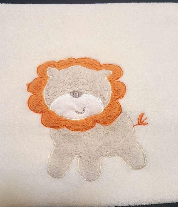 Cutie Pie Cream Beige Baby Blanket Lion w/Orange Mane Soft Plush Fleece 30x36  | Baby, Nursery Bedding, Blankets & Throws | eBay!