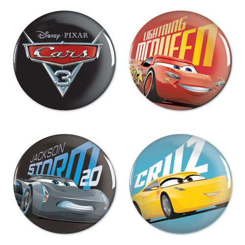 WinCraft Cars 3 NASCAR Four-Pack Buttons