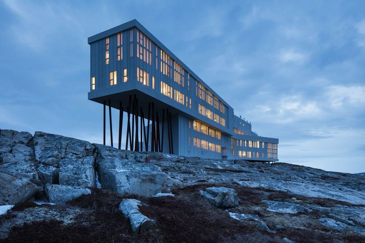 Newfoundland's Fogo Island Inn offers a different kind of island getaway. $1235 upwards for 2 a night