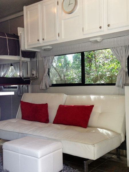 Camper remodel with Ikea furniture.