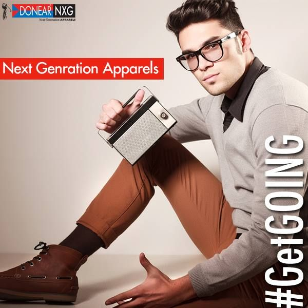 Upgrade your wardrobe with the Next Generation Apparels with Donear NXG   #GetGOING #men #style #fashion #youth
